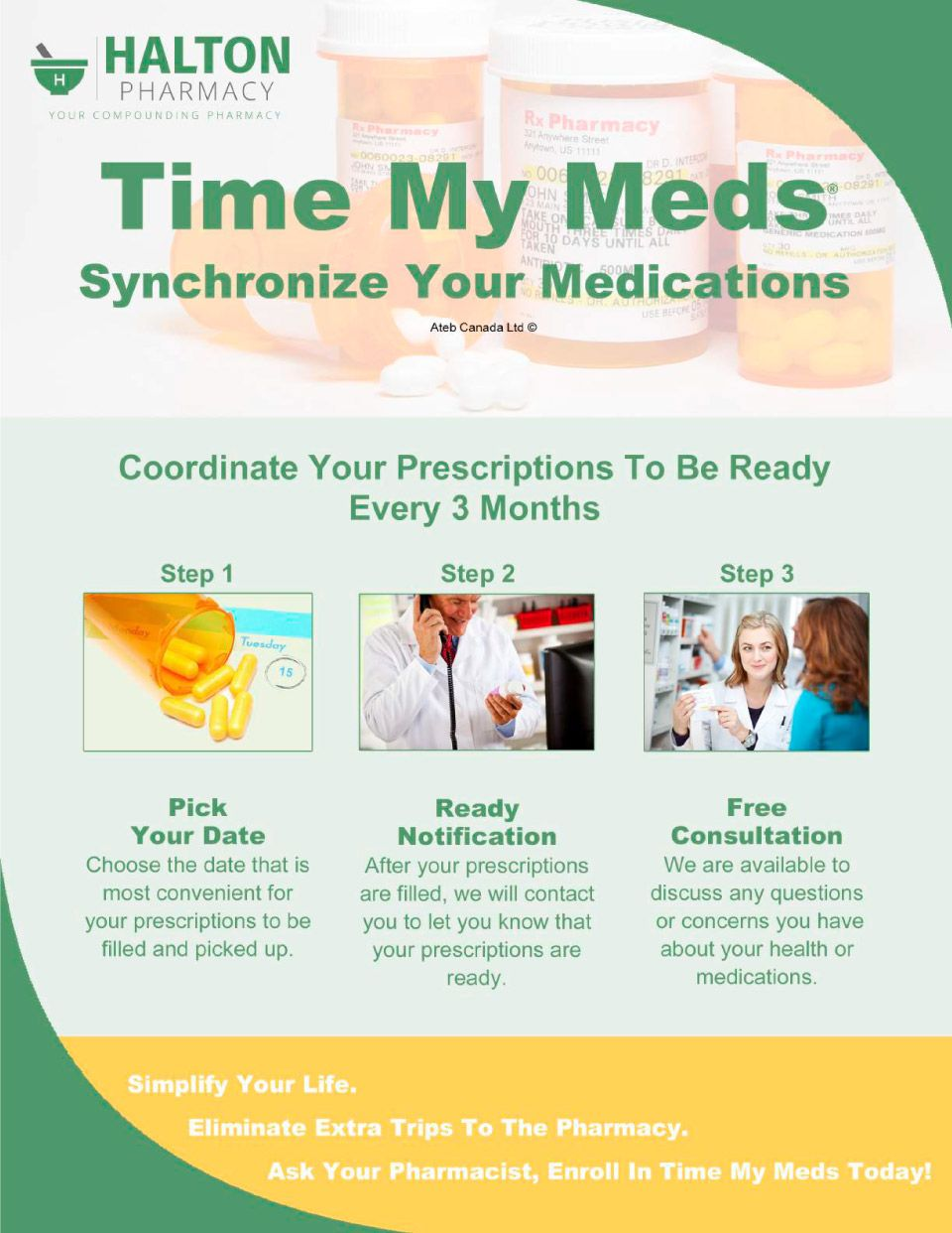 Time My Meds Flyer, Inventory iQ